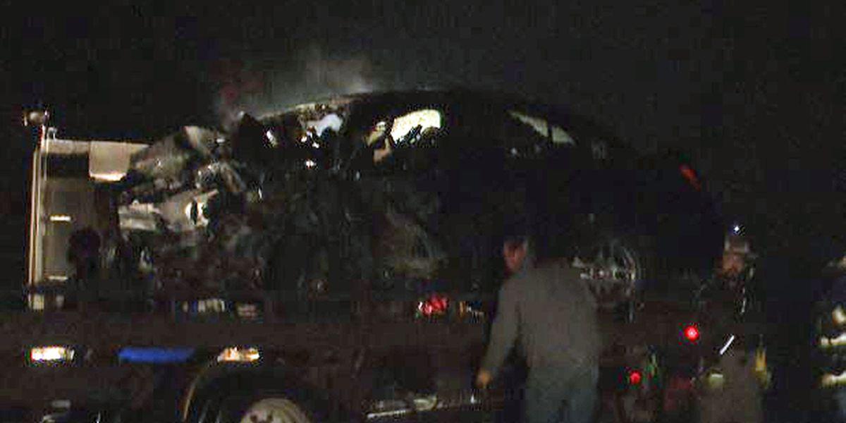 Watertown man involved in fiery crash dies