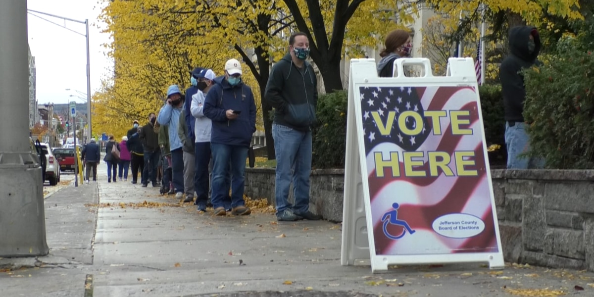 Early voting starts, turnout larger than anticipated