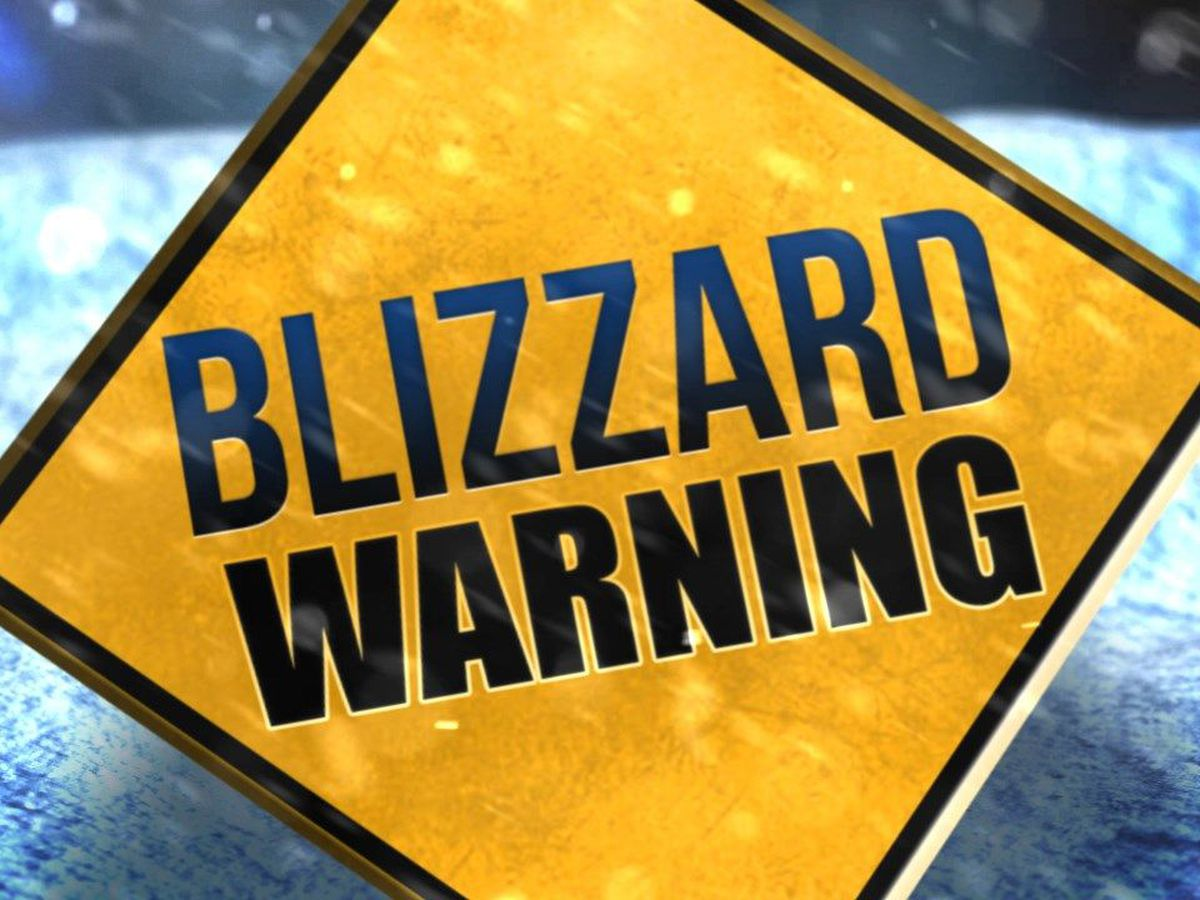 Blizzard warning kicks in Thursday morning