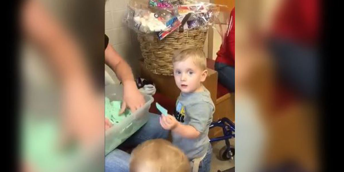 Just Face It: big support for little boy