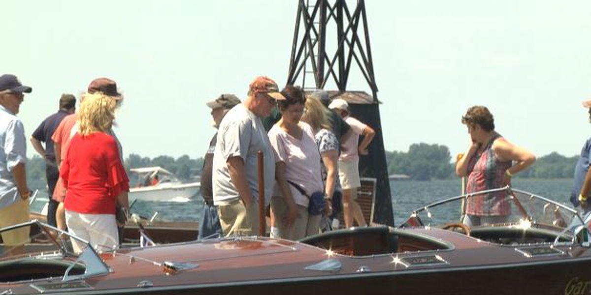 Antique boat show underway in Clayton
