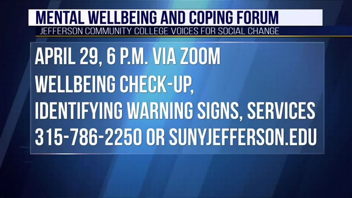 JCC to host mental health, coping forum