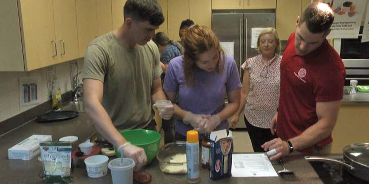 Military families learn about healthy cooking