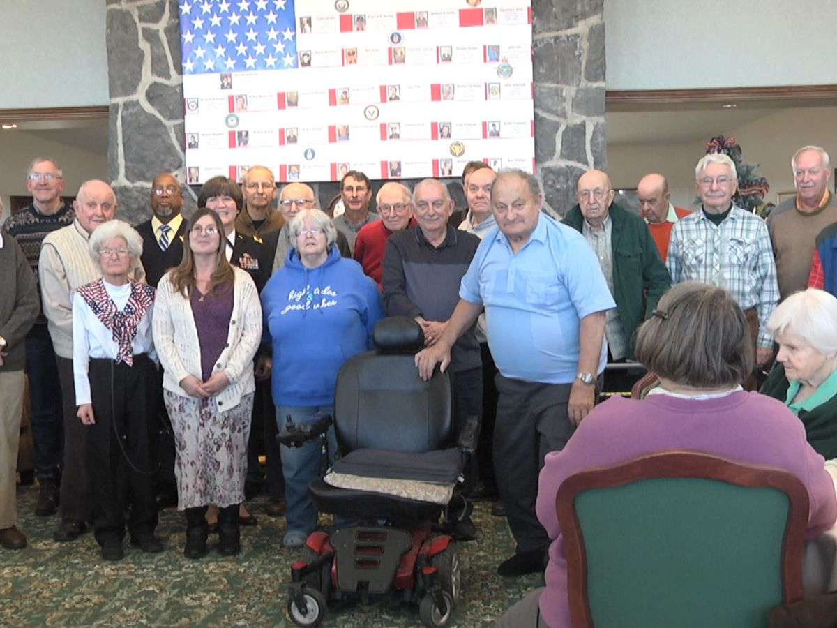 Veteran residents at Ives Hill Retirement Community honored