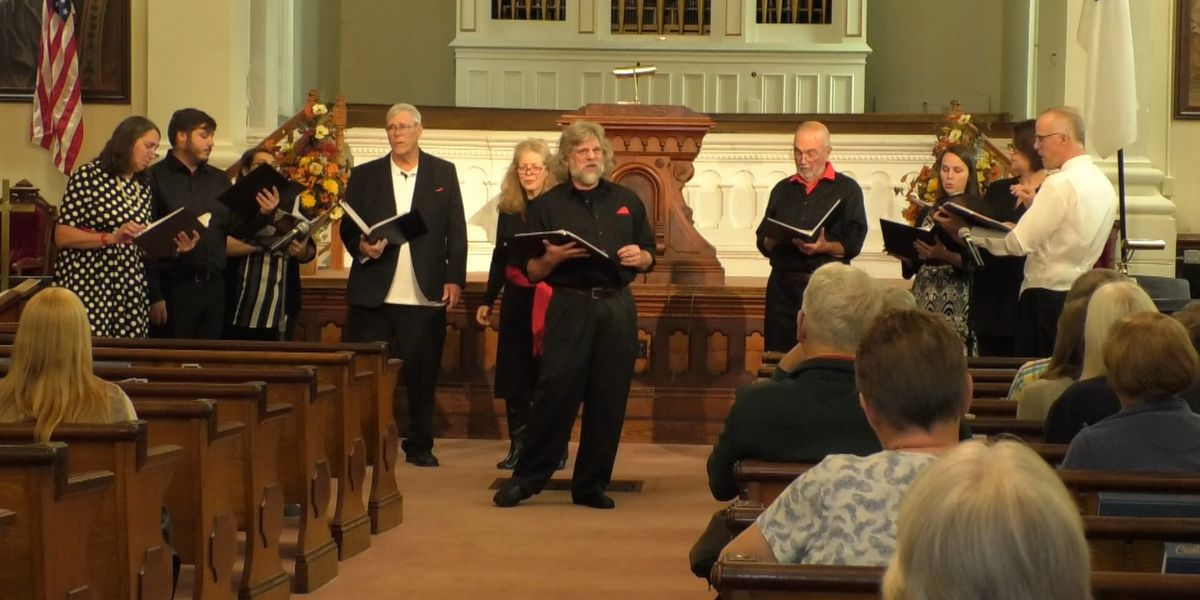 A cappella performance echoes in Adams church pews