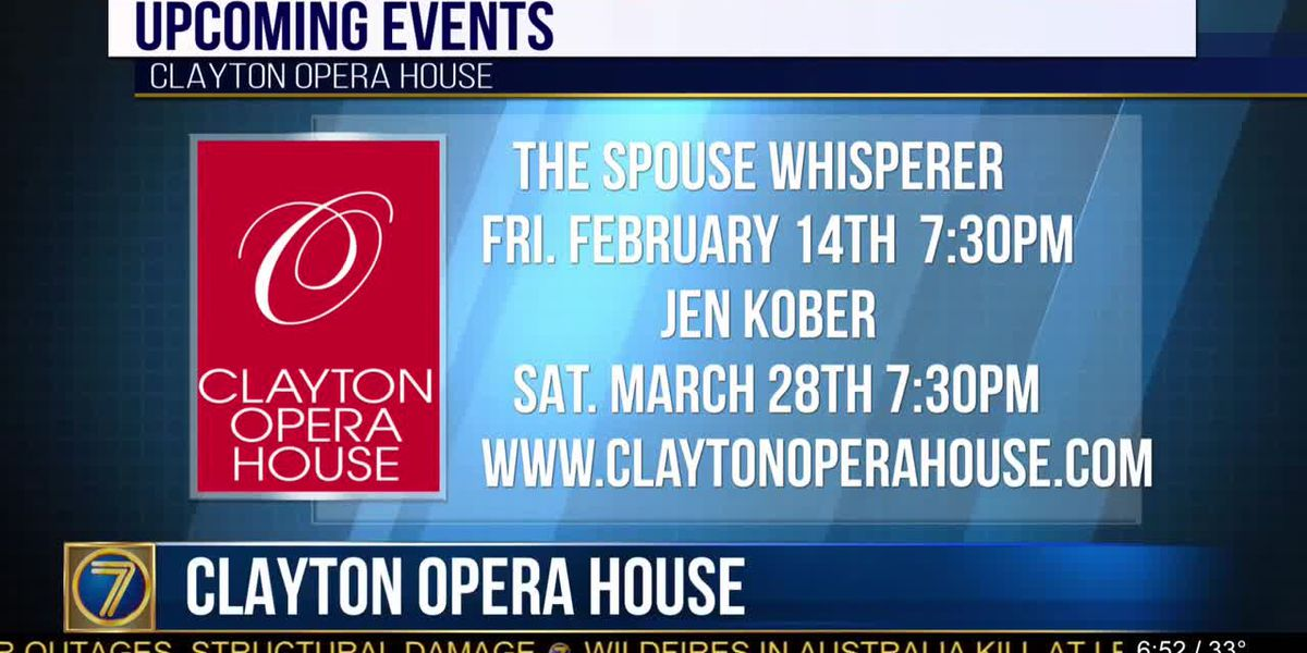 Comedy shows coming up at Clayton Opera House