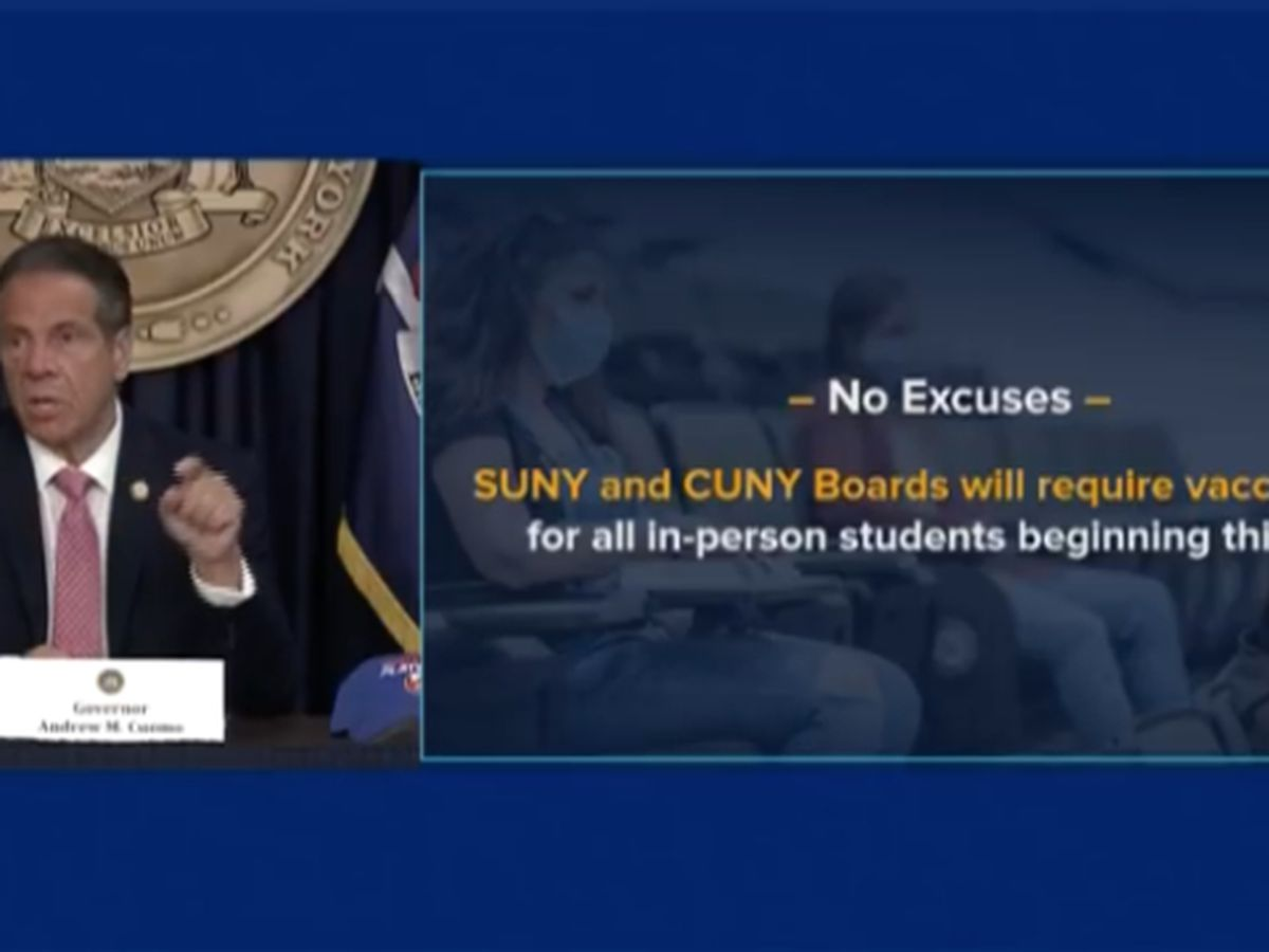 SUNY & CUNY students may need to be vaccinated to attend in person this fall