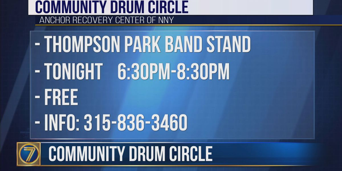 Anchor Recovery Center hosts drum circle
