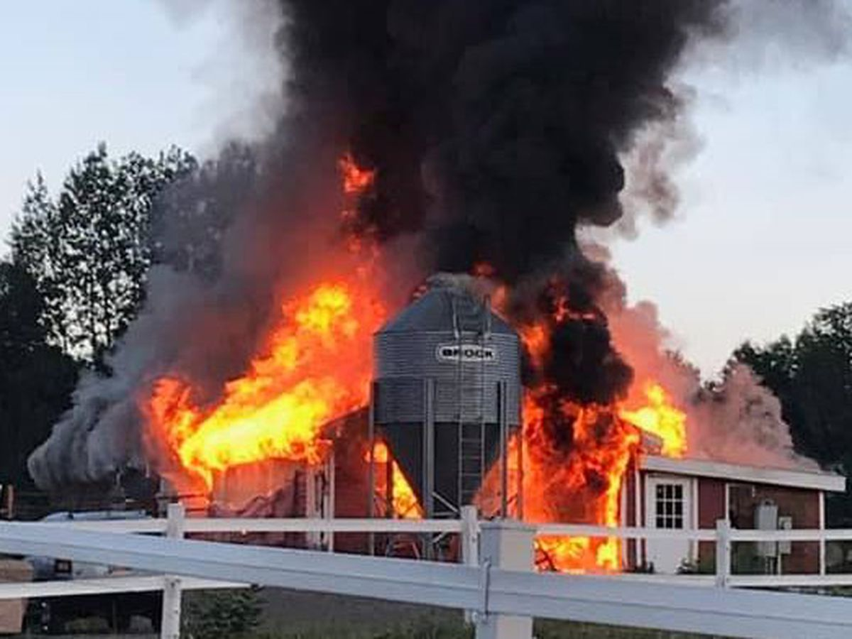 Fire destroys Lewis County barn