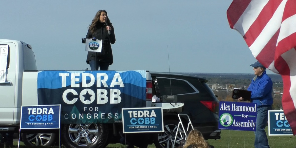 Tedra Cobb's campaign stops in Thompson Park