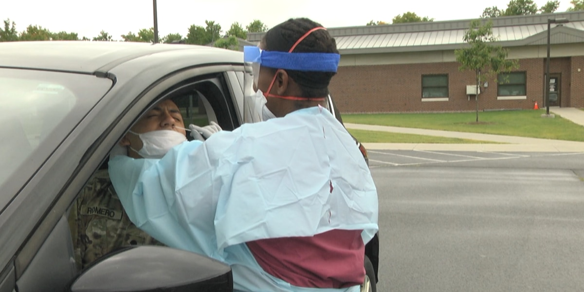 Fort Drum nurses dress up to test soldiers for COVID-19