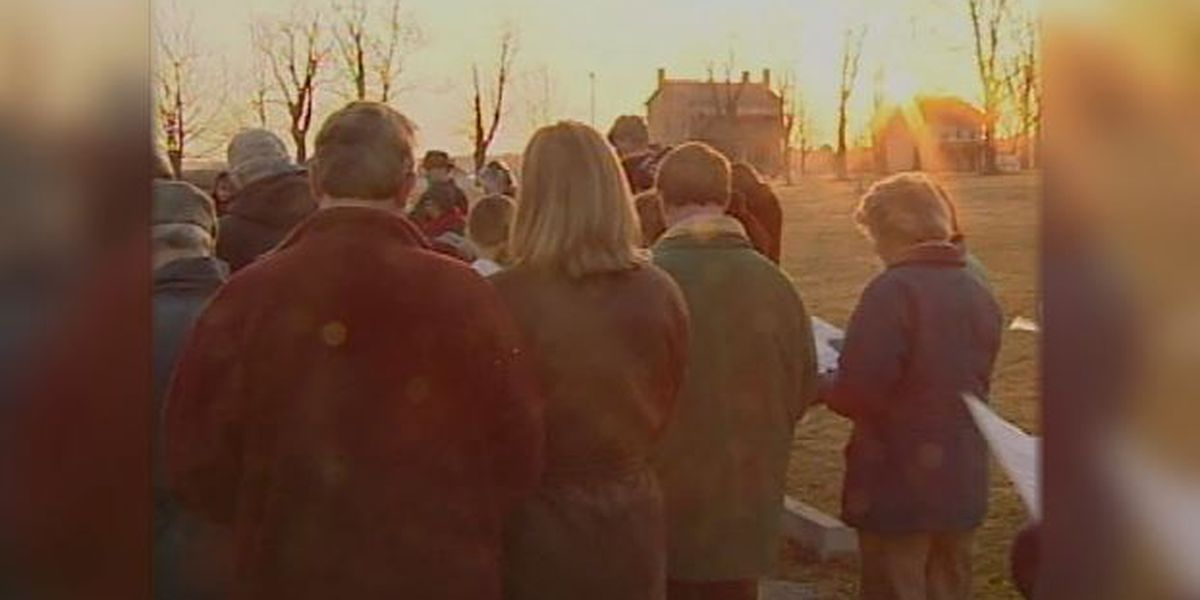 Blast from the Past: 2001 sunrise Easter service