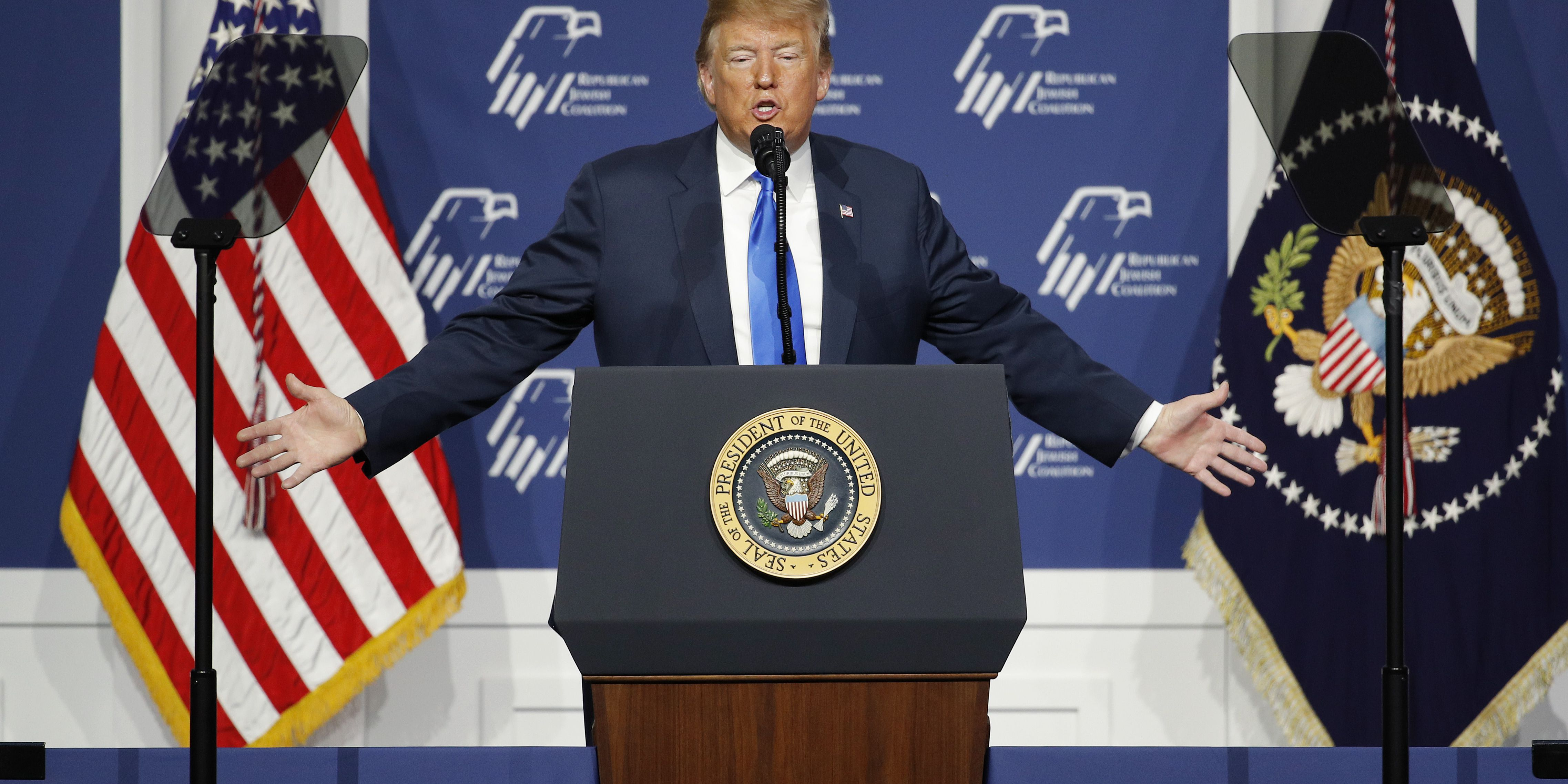 Trump tells GOP Jewish conference Democrats would 'leave Israel out there'