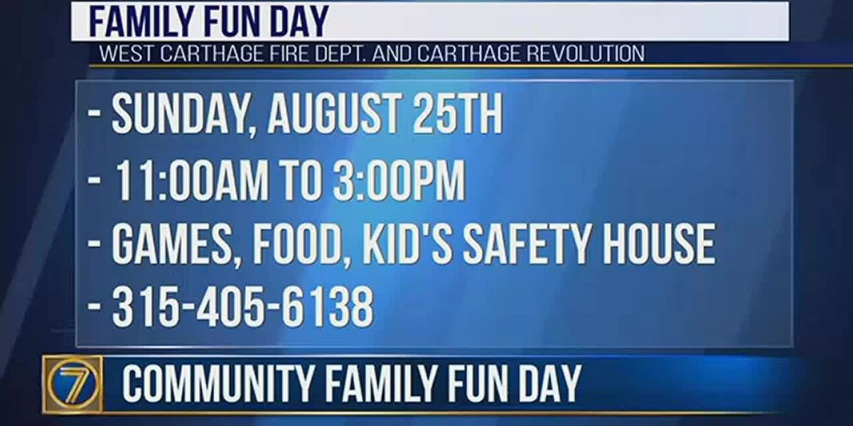 Community Family Fun Day this weekend