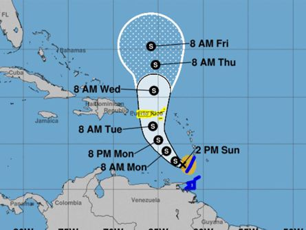 Tropical Storm Karen forms in Atlantic, targets Puerto Rico