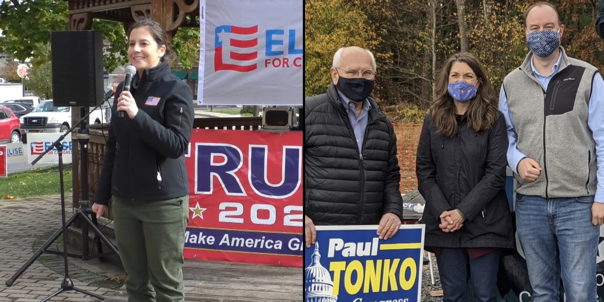 Stefanik rallies in Watertown, Cobb campaigns in counties east of the north country