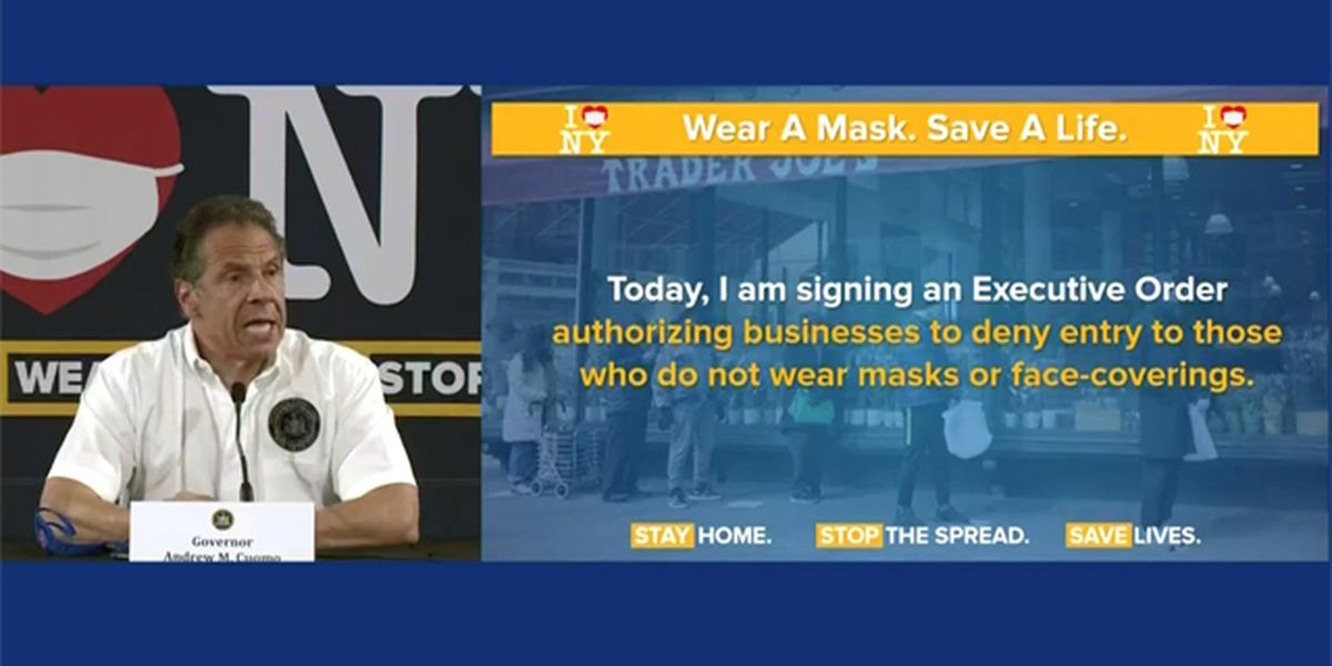Businesses can deny entry to people not wearing masks, governor says