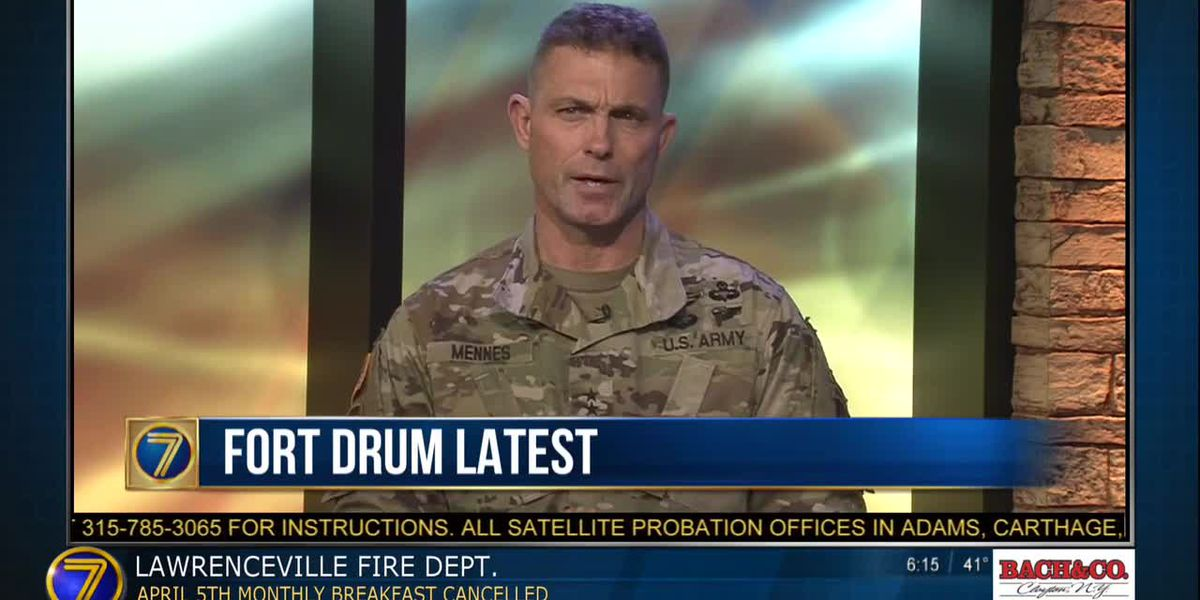 wwny 10th Mountain Division commander discusses COVID-19 & Fort Drum