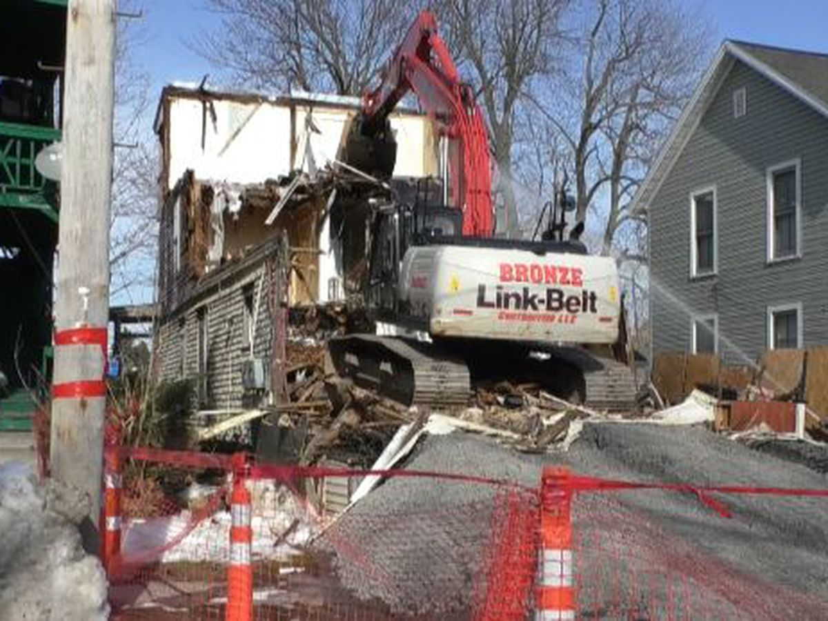 Demolition underway at another Watertown property