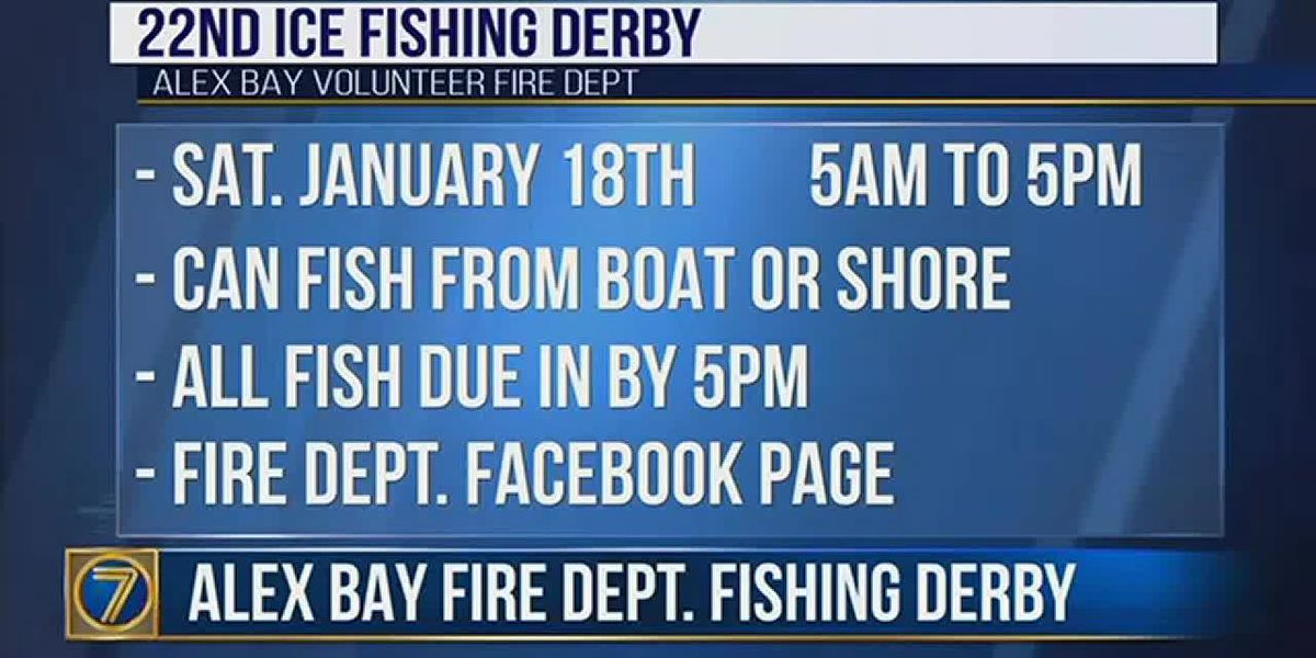 Alex Bay fishing derby this weekend