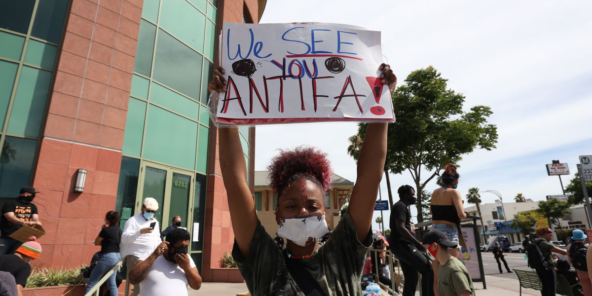 A look at the antifa movement Trump is blaming for violence