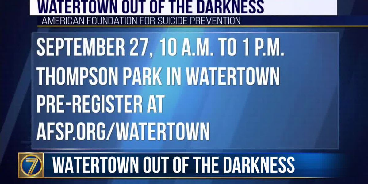 Suicide Prevention walk coming up this Sunday in Watertown