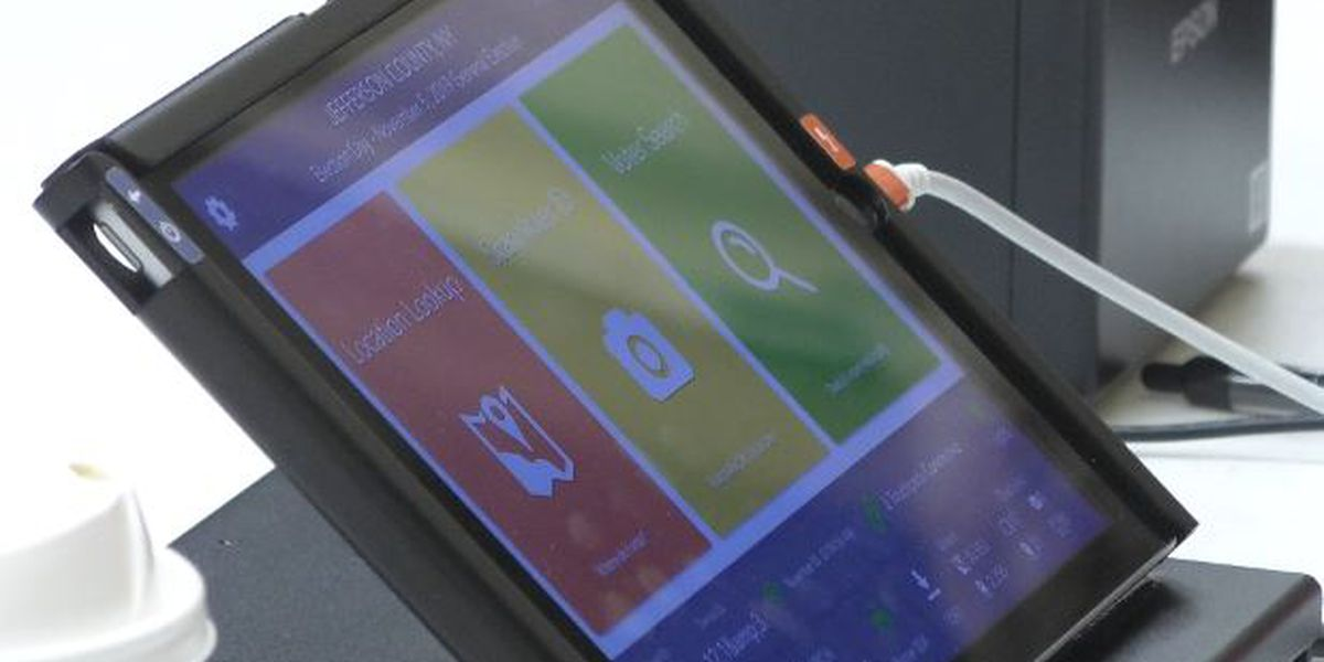 Local voters use electronic tablets for first time