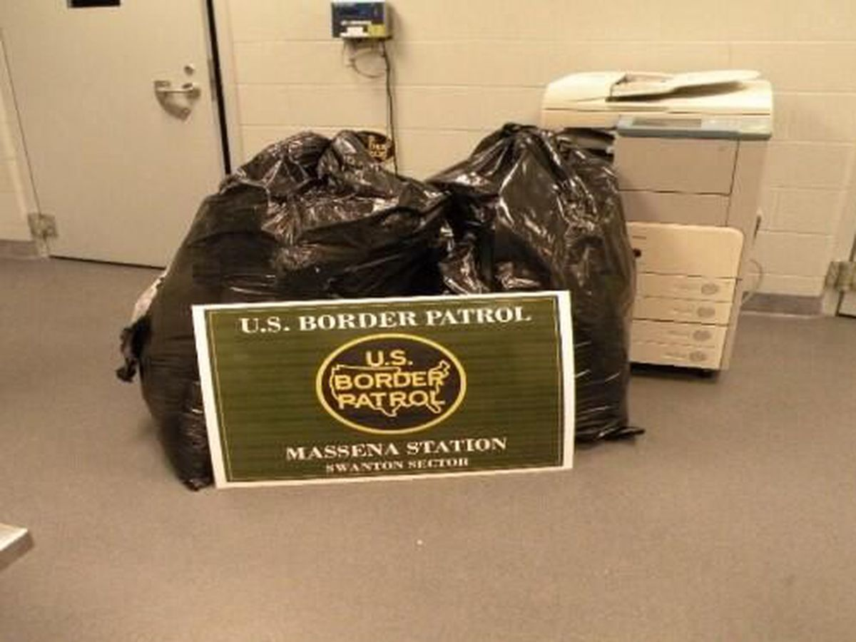 Border Patrol agents seize 81 pounds of marijuana in Massena
