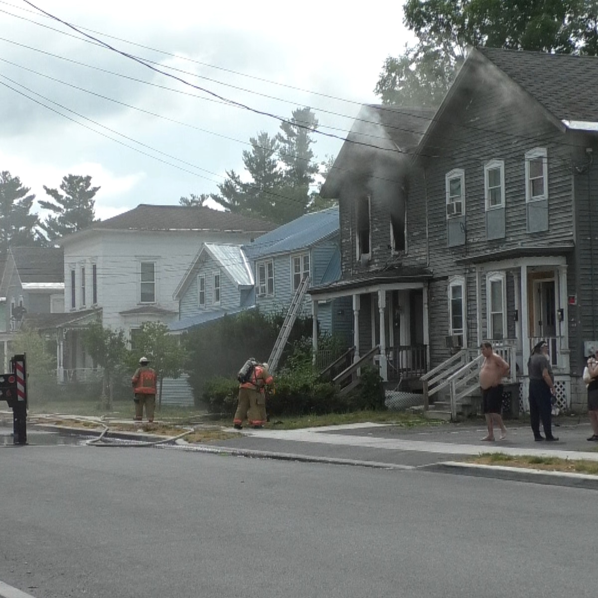 Structure fire at Watertown multi-family home