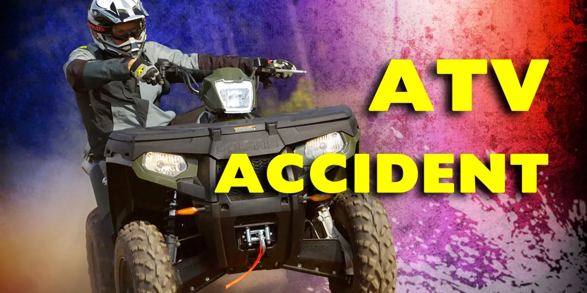 Pedestrian struck by ATV, airlifted to hospital