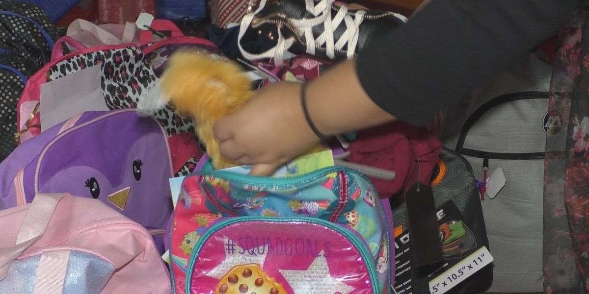 Evans Mills donates stuffed backpacks to kids in need