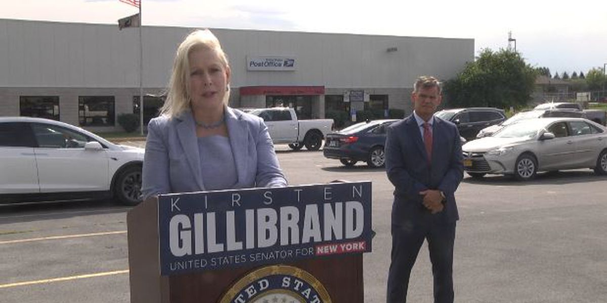 Gillibrand visits Watertown to call for postal protections