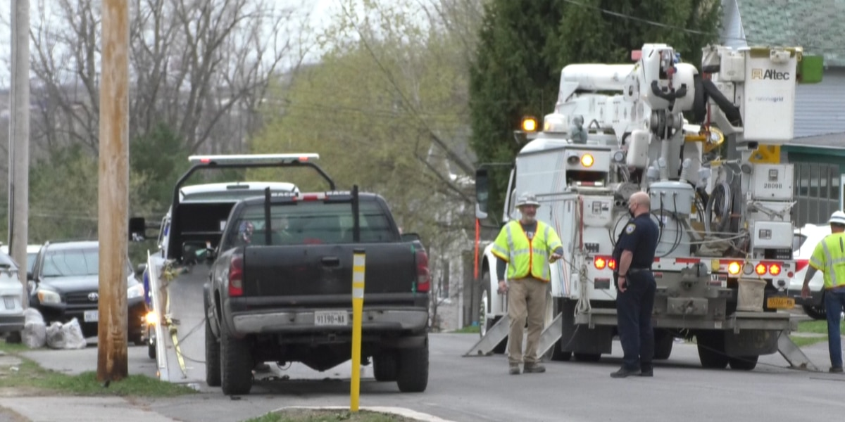 Wires down on Watertown's Cross Street