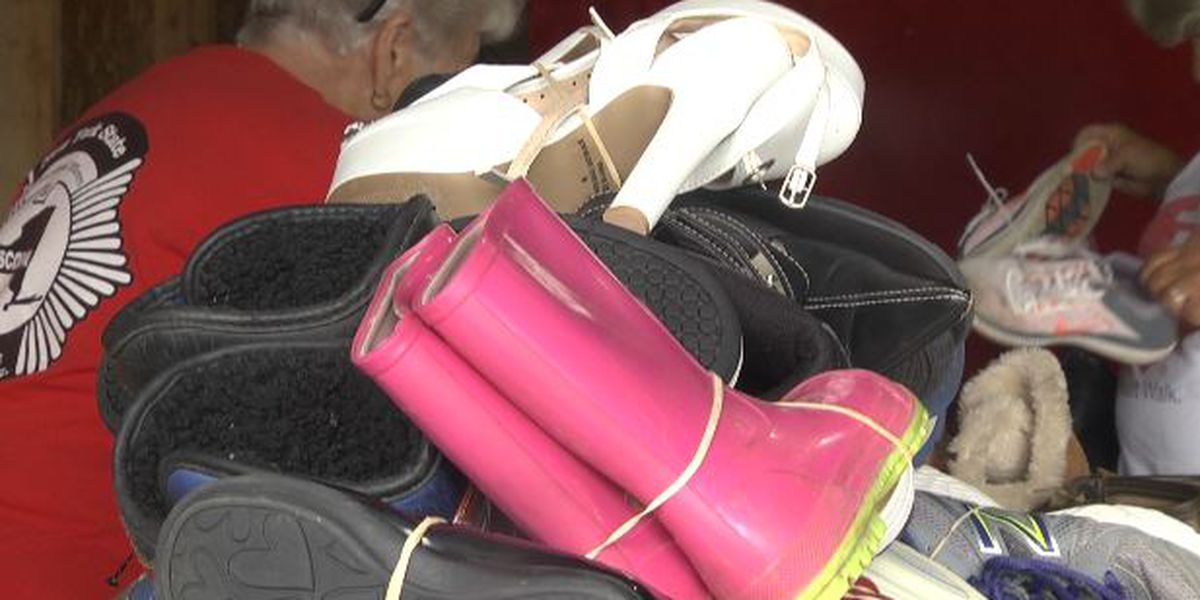 Collecting shoes to battle heart disease