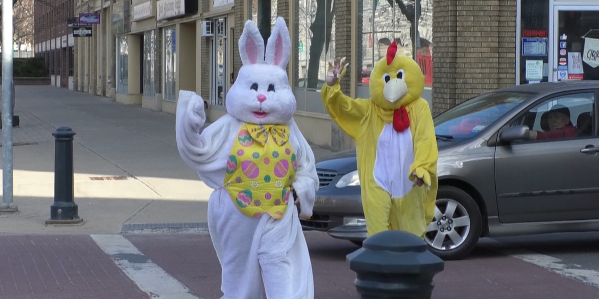 Easter Bunny spotted in Downtown Watertown