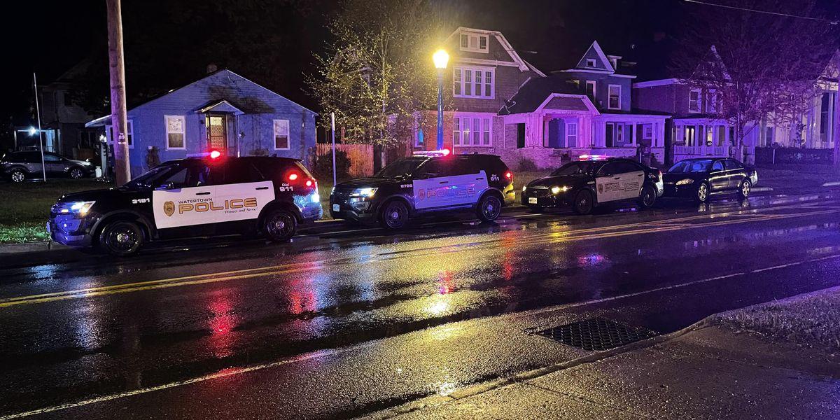 Police investigate gunshots on California Avenue in Watertown