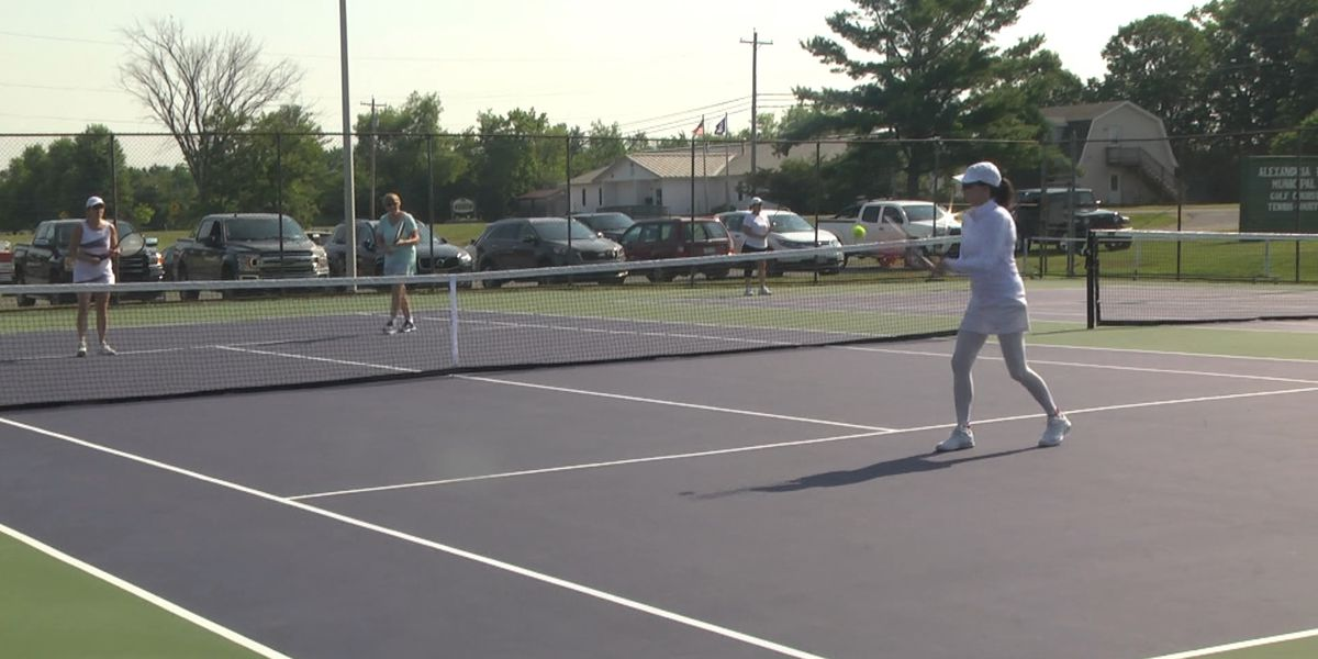 Friday Sports: Alexandria Bay breaks in new tennis courts