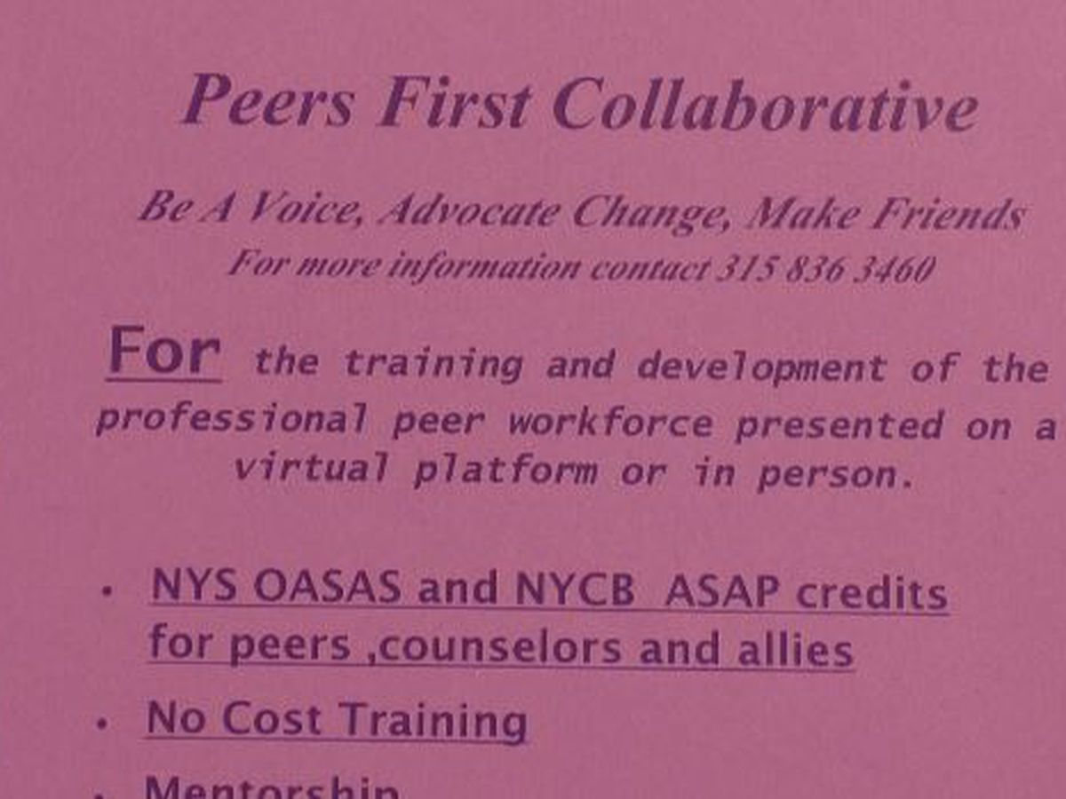 Support and training offered for peer advocates