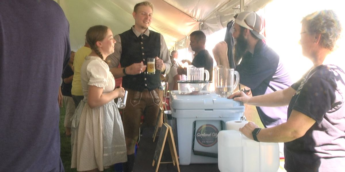 Getting into the German spirit at Cape Vincent's Oktoberfest
