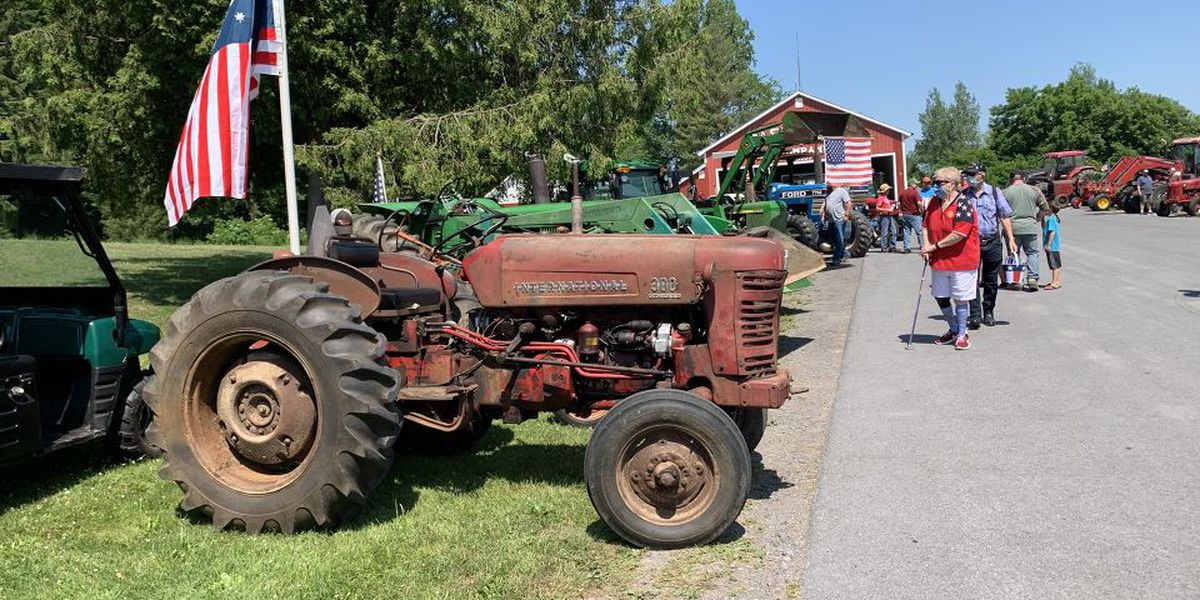 A tractor attraction in Castorland, the village's 9th annual tractor parade