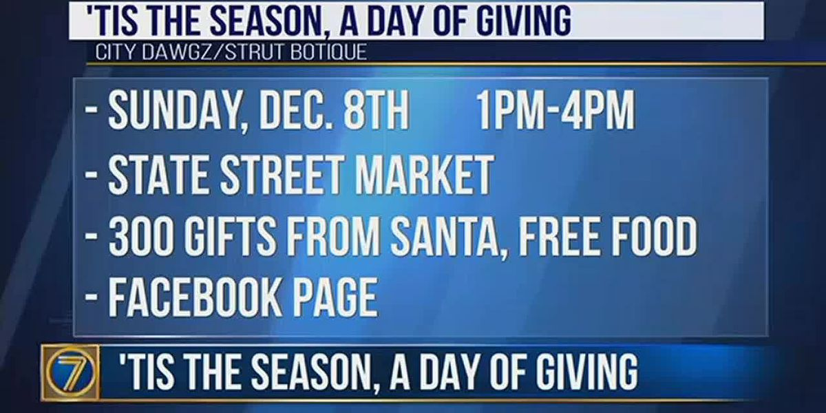 'Tis the season for a day of giving this weekend