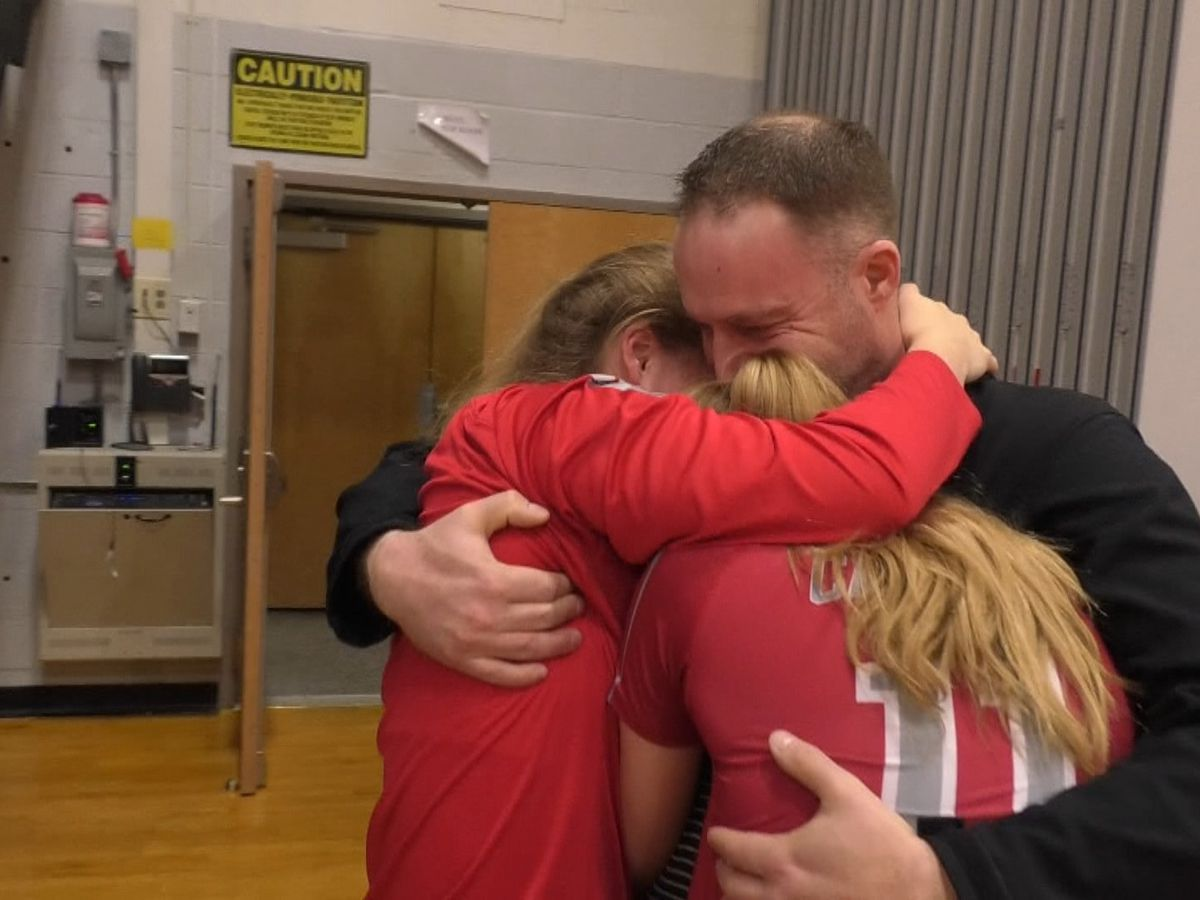 One Fort Drum soldier serves a surprise at daughters' volleyball games