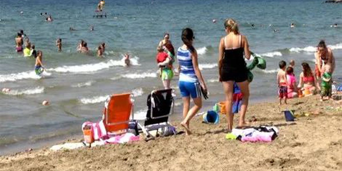 Region's state park beaches open, but not for swimming
