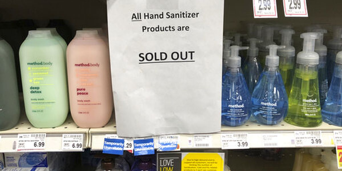 With coronavirus, hand sanitizer is getting hard to come by