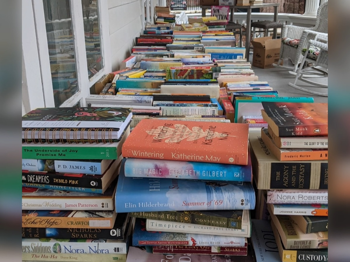 Book swap in Croghan benefits village's playground
