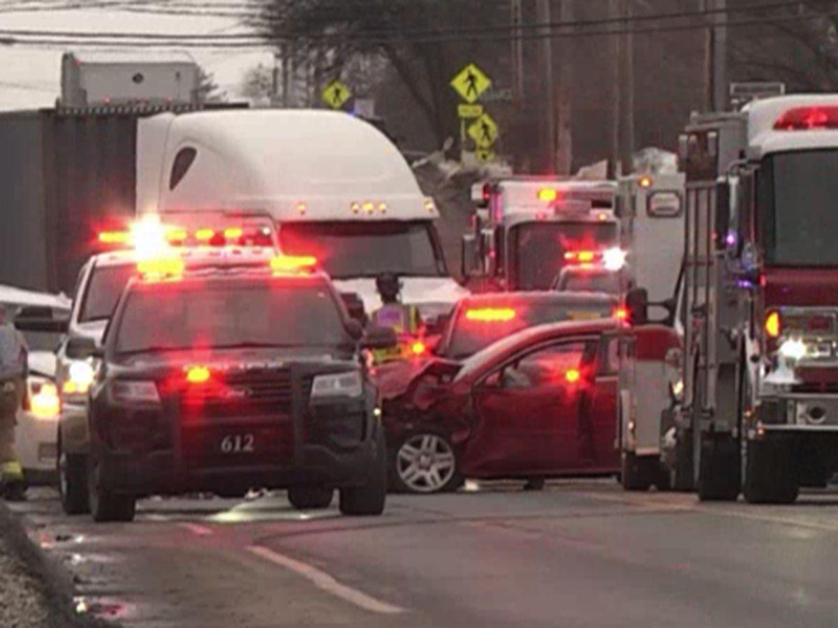 Crash ties up Canton traffic