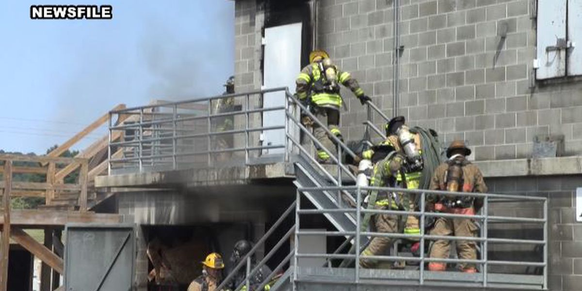 What happens to fire & police training facilities on now-closed prison property?