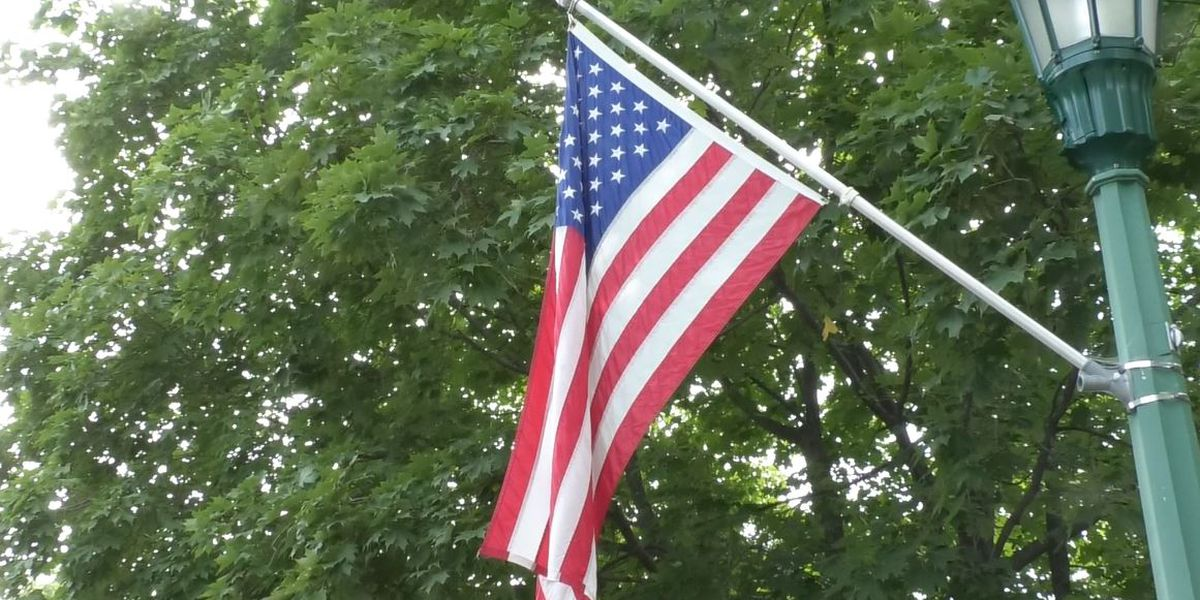 """Keyes Avenue flags: """"We live in a great country"""""""