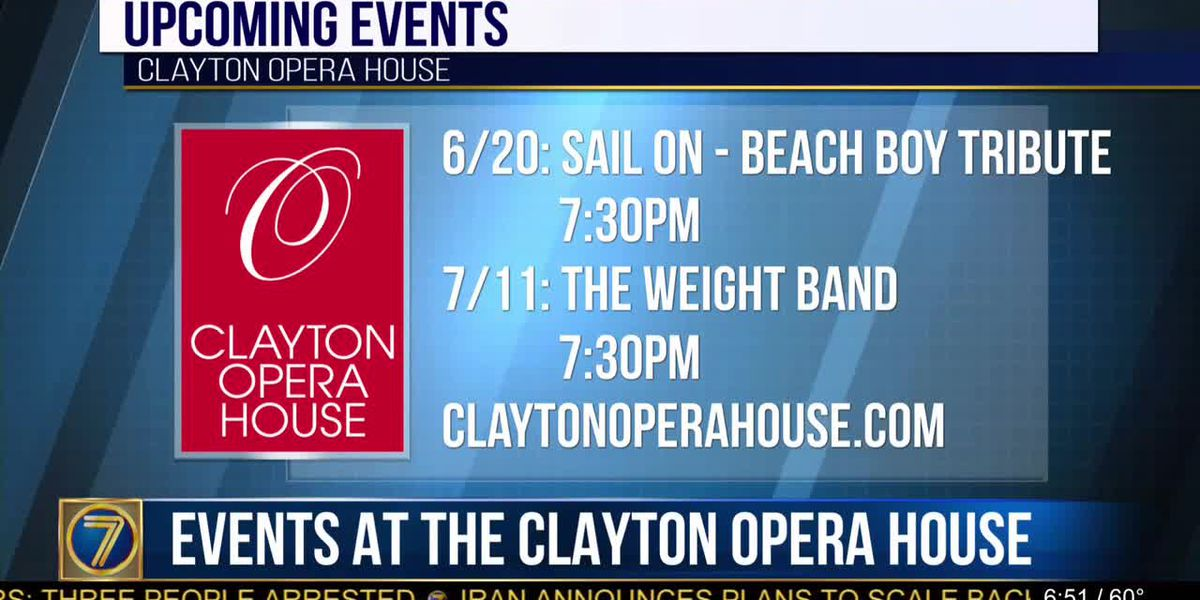 Check out upcoming concerts at Clayton Opera House