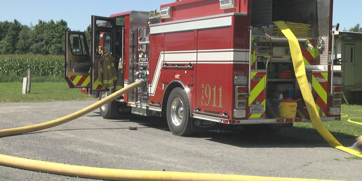 Firefighters put out trailer home fire in town of LeRay